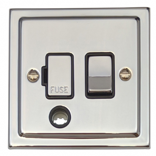 G&H TC356 Trimline Plate Polished Chrome 1 Gang Fused Spur 13A Switched & Flex Outlet